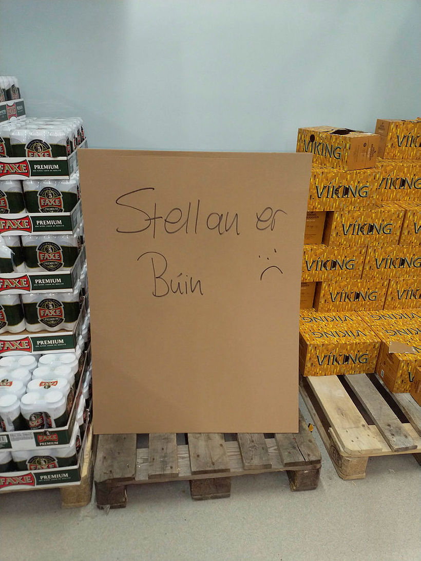 Stella Artois kláraðist í Álfrúnu við Helluhraun í Hafnarfirði.
