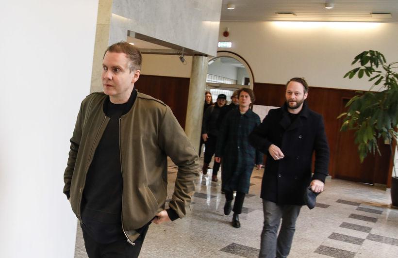 Jón Þór Birgisson, söngvari Sigur Rósar og Georg Holm, bassaleikari …