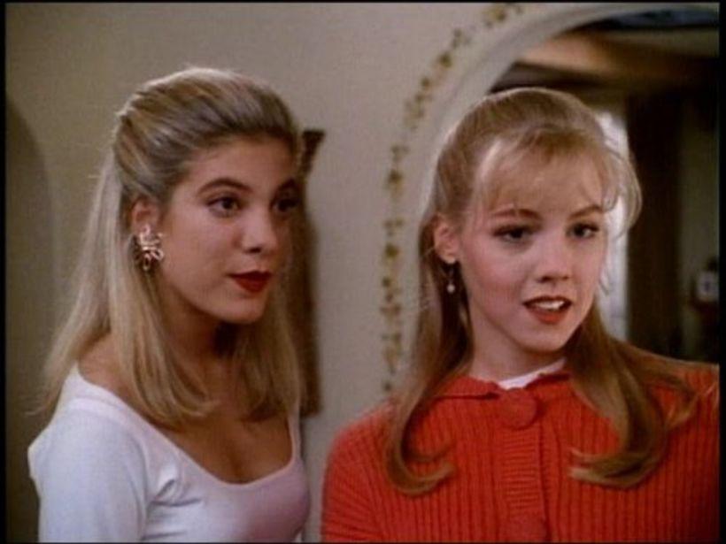 Stöllurnar Donna og Kelly í Beverly Hills eða Tori Spelling ...