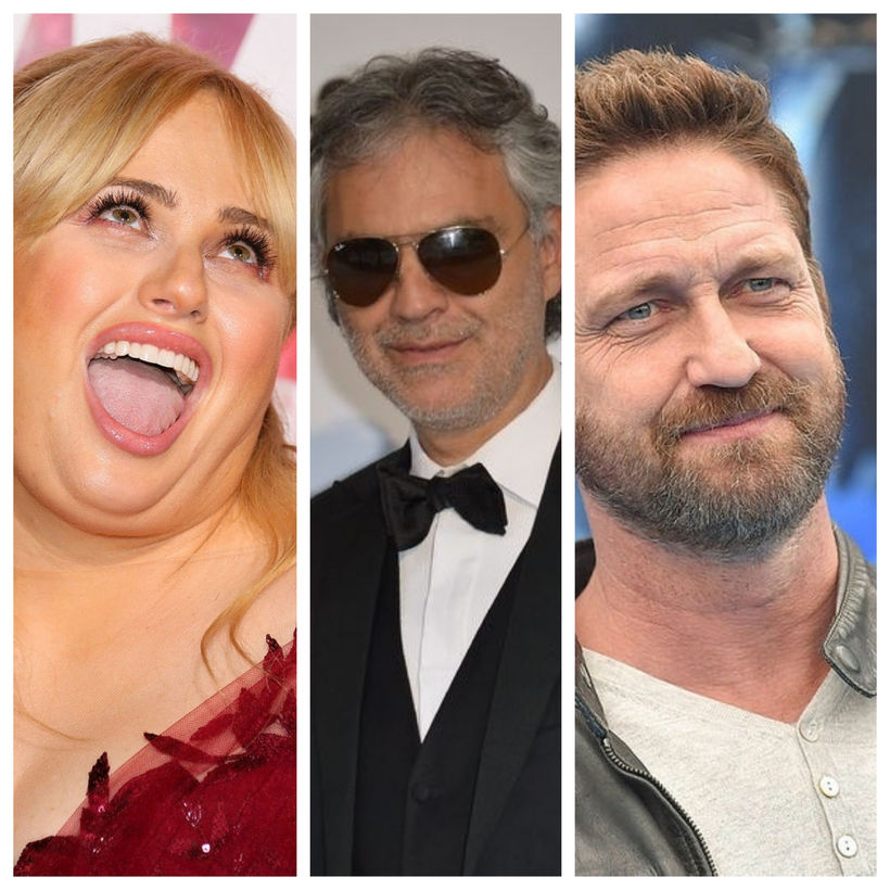 Rebel Wilsin, Andrea Bocelli og Gerard Butler eiga ekki bara ...