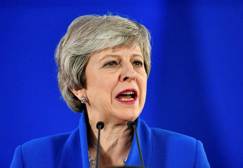 Theresa May, forsætisráðherra Bretlands, stendur höllum fæti innan eigin flokks.