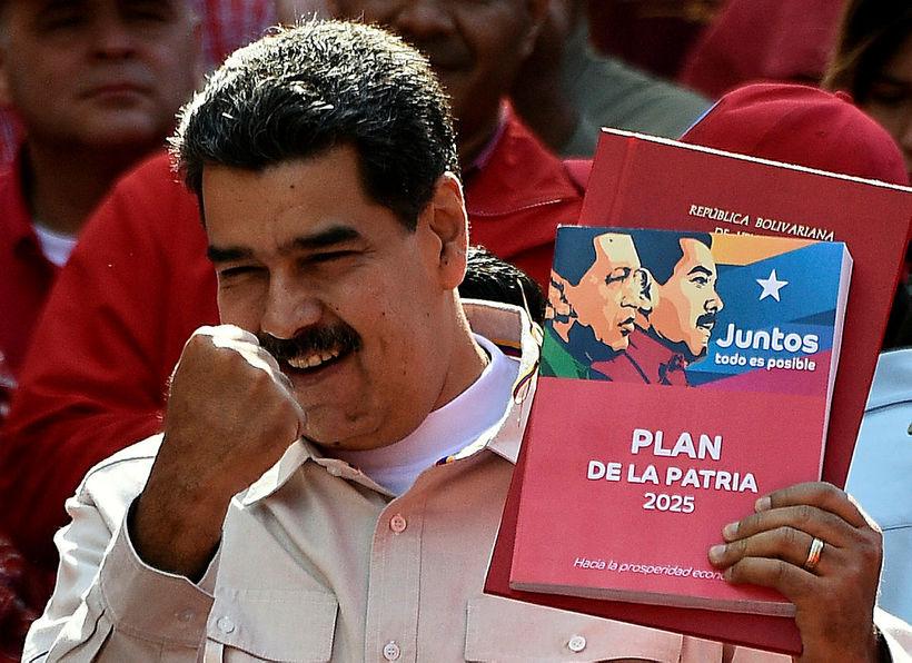 Nicolas Maduro, sem tók við embætti forseta Venesúela í þriðja ...