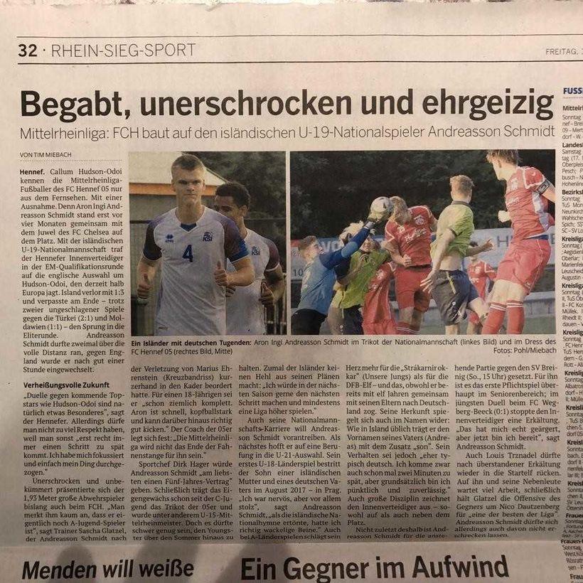 Grein um Aron Inga í þýska blaðinu Kölner Stadt Anzeiger.