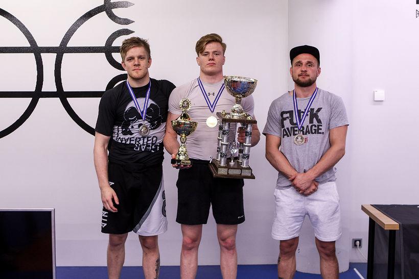 Frá vinstri: Halldór Logi Valsson, Kristján Helgi Hafliðason og Bjarki ...