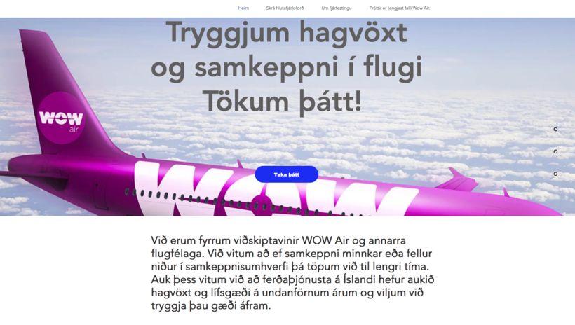 Á síðunni hluthafi.com geta einstaklingar og fyrirtæki lagt fram hlutafé ...
