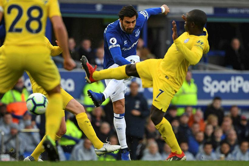 André Gomes í leik með Everton.