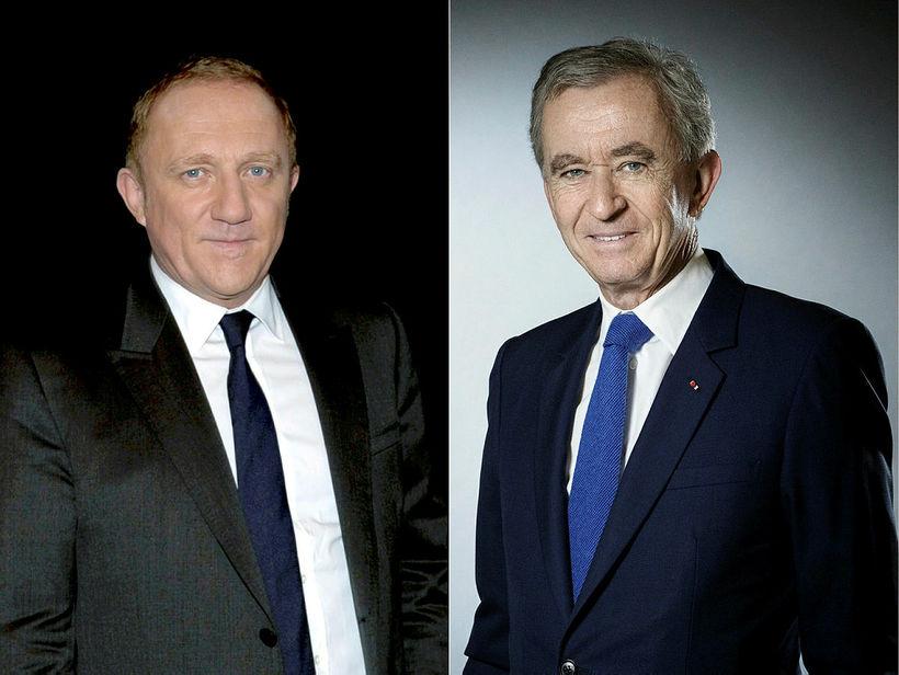 Francois-Henri Pinault (t.v.) og Bernard Arnault (t.h).