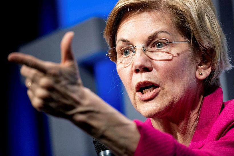 Elizabeth Warren, öldugadeildarþingmaður Demókrataflokksins og frambjóðandi í forvali flokksins vegna ...