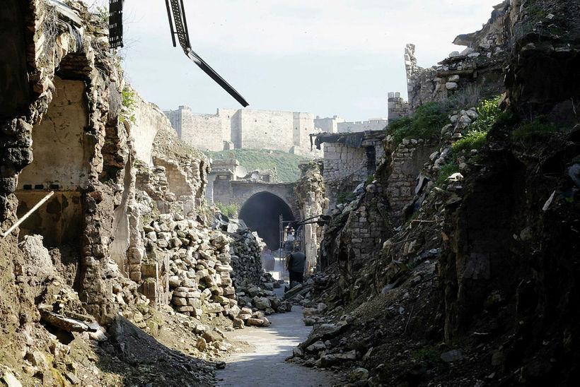 Aleppo í dag - en það tekur áratugi að byggja …