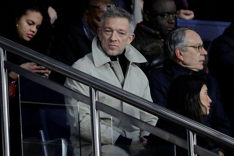 Vincent Cassel á fótboltaleik í París í mars.