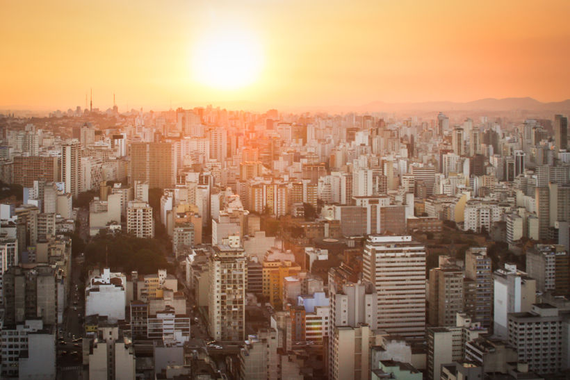 Sólsetur í Sao Paulo.