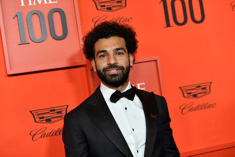 Mohamed Salah í sparifötunum í New York.