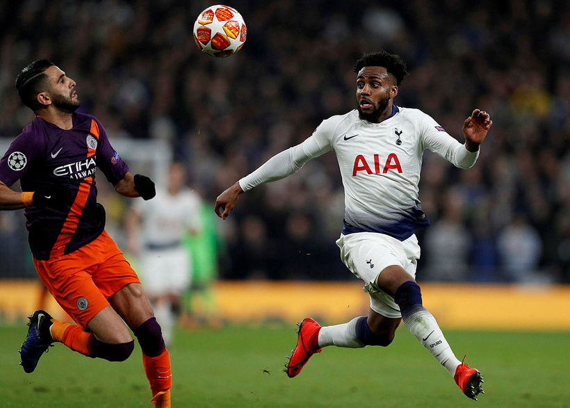 Danny Rose í leik Tottenham og Manchester City í átta ...
