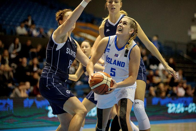Hildur Björg Kjartansdóttir í landsleik.