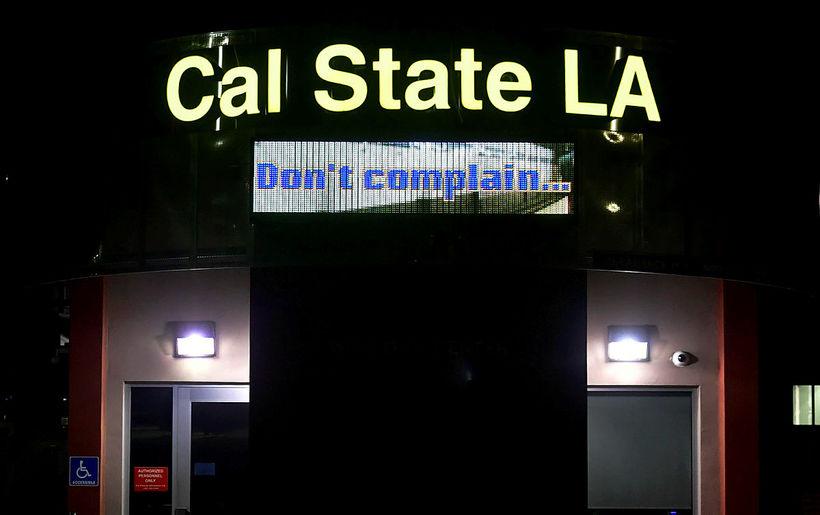 California State Los Angeles-háskólinn hefur gripið til óvanalegra ráðstafana vegna ...