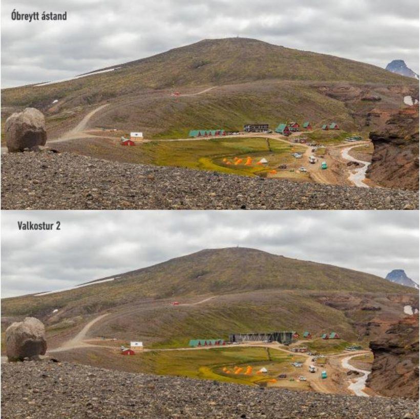 Samanburður á valkosti 1, sem er óbreytt ástand, og valkosti …
