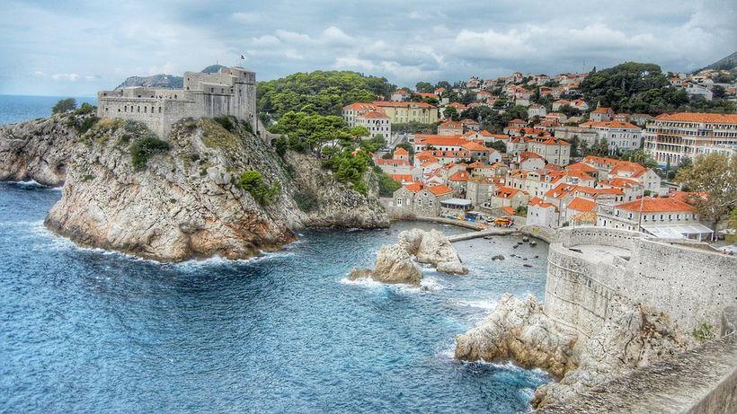 Gamli hlutinn í Dubrovnik er afskaplega fagur.