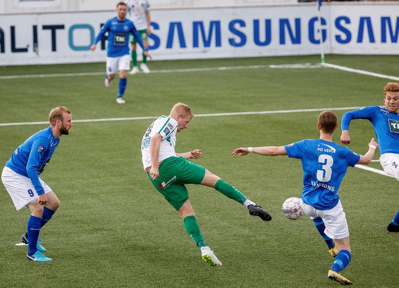 Thomas Mikkelsen skoraði fjögur mörk fyrir Breiðablik.