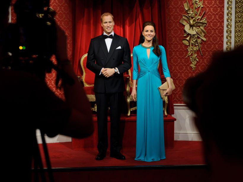 Á Madame Tussaud-safninu í London má hitta á hertogahjónin af ...