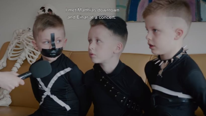 These fans of the band Hatari, representing Iceland at Eurovision, …