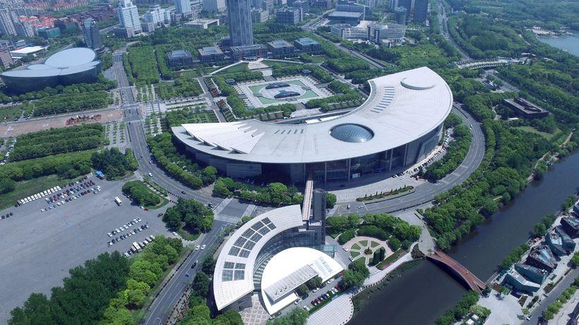Vísinda- og tæknisafn Shanghaí í Kína.