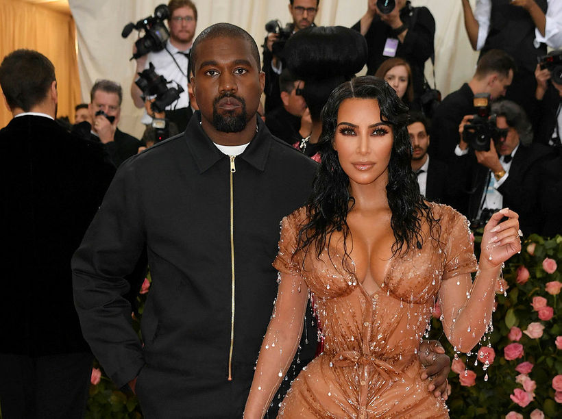 Kim Kardashian og Kanye West.