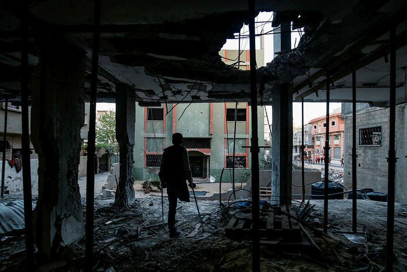 Frá Rafah á Gaza í vikunni.