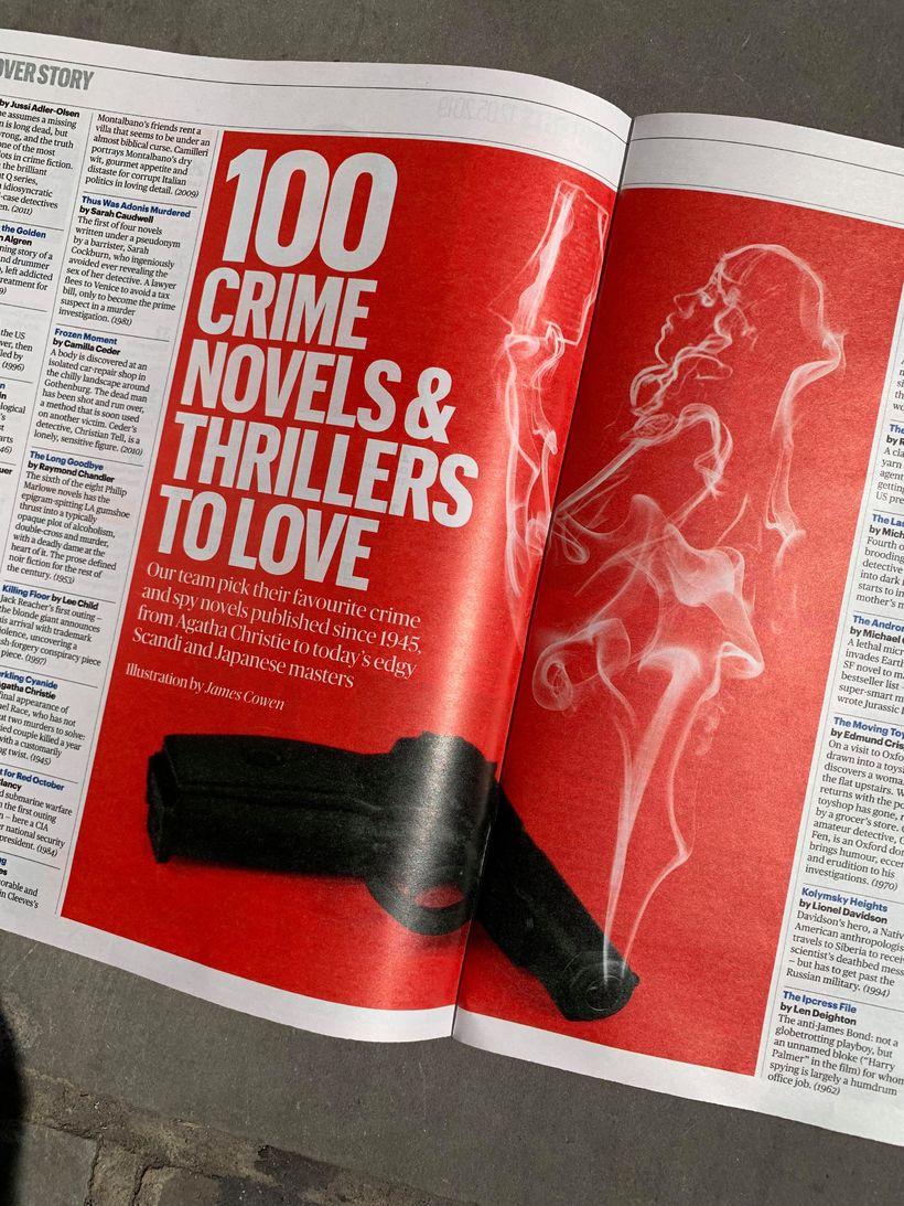 Sunday Times tekur saman lista yfir 100 bestu glæpasögurnar frá ...
