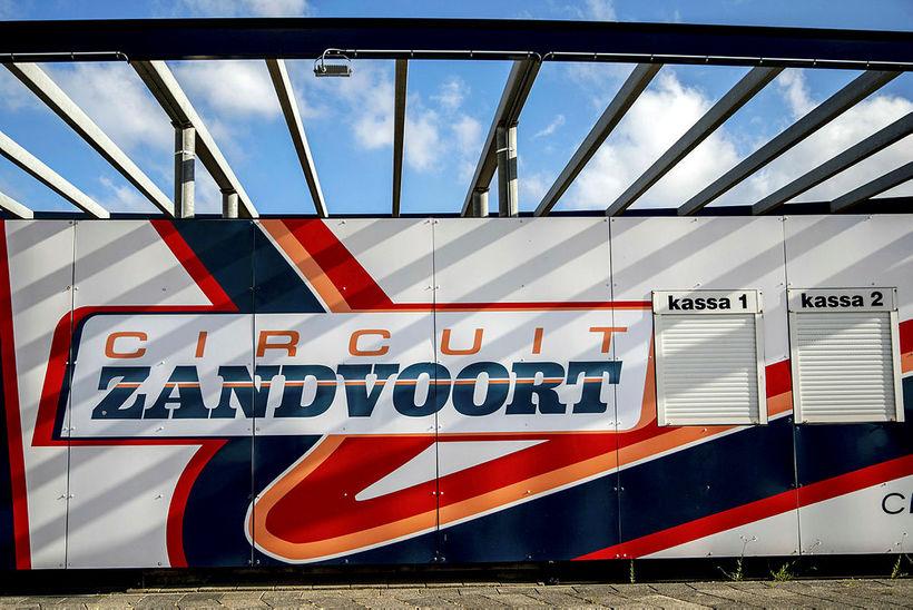 Í brautinni í Zandvoort í morgun.