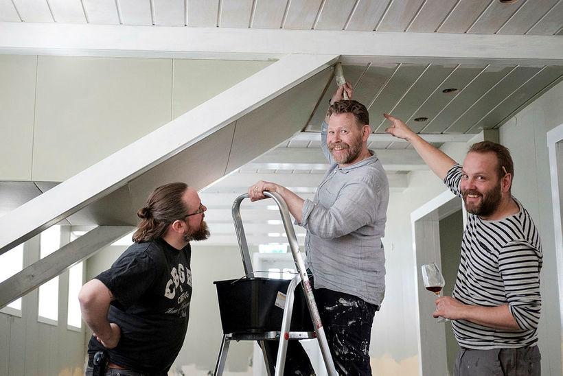 Ragnar Eiríksson, Ólafur Örn Ólafsson og Bragi Skaftason eru að ...