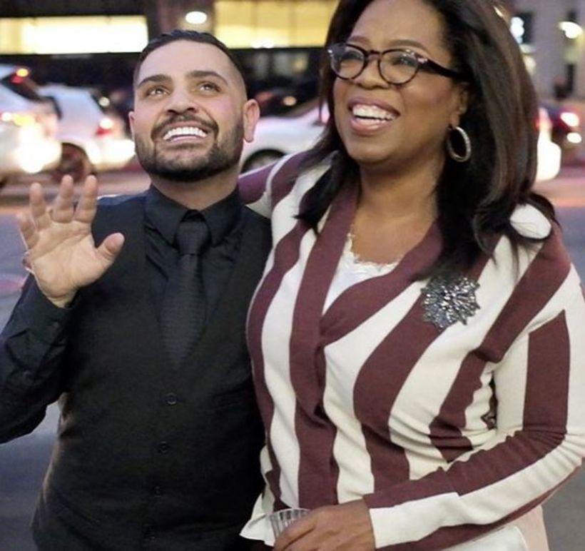 Fatahönnuðurinn Michael Costello og fjölmiðlakonan Oprah Winfrey eru góðir vinir.