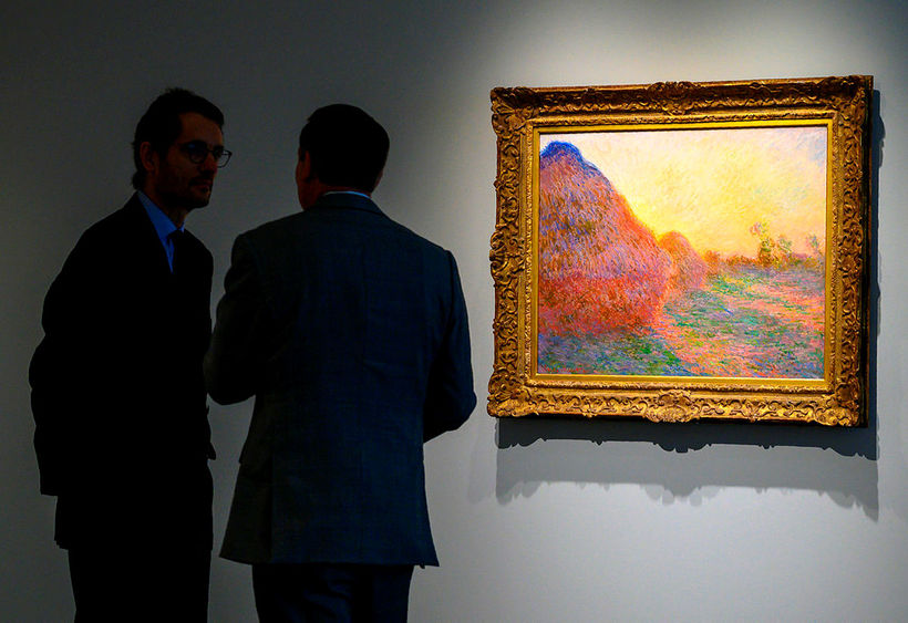 Ein af heysátum Claude Monet var seld á uppboði í ...