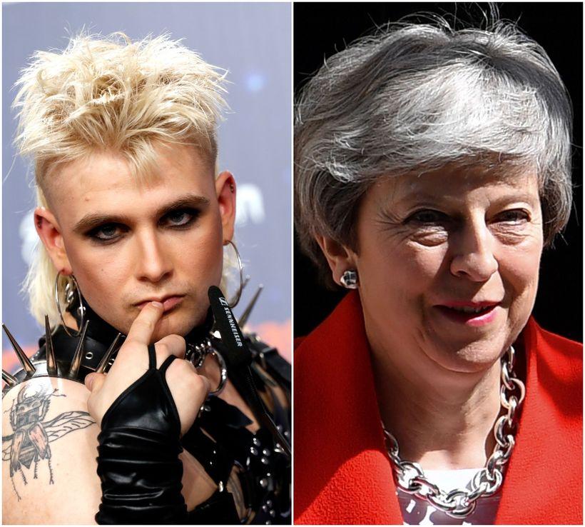 Klemens og Theresa May.