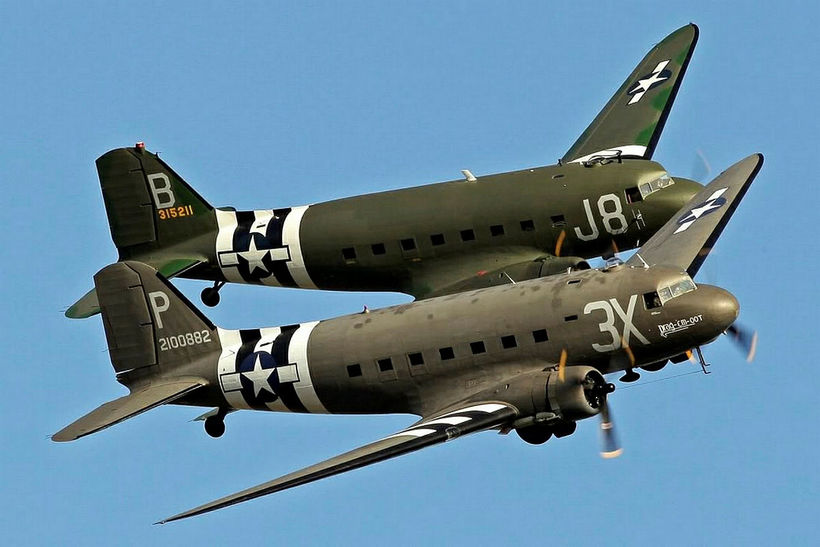 Fifteen DC-3/C-47 aircraft, like the ones in the picture, will …