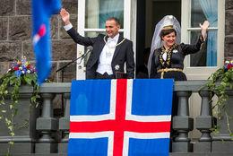Icelandic President Guðni Th. Jóhannesson and First Lady Eliza Reid.