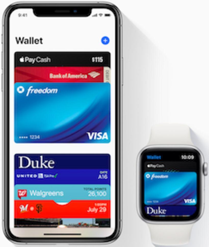 Apple Pay virkar í snjallúrum jafnt sem snjallsímum. Sagt er …