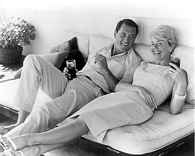 Doris Day með kærum vini sínum, Rock Hudson, á hátindi ...