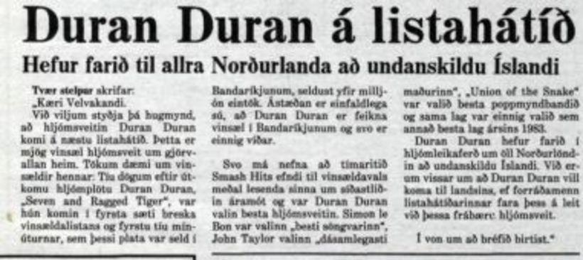 Á nánast hverjum degi birtust lesendabréf í Morgunblaðinu frá aðdáendum …