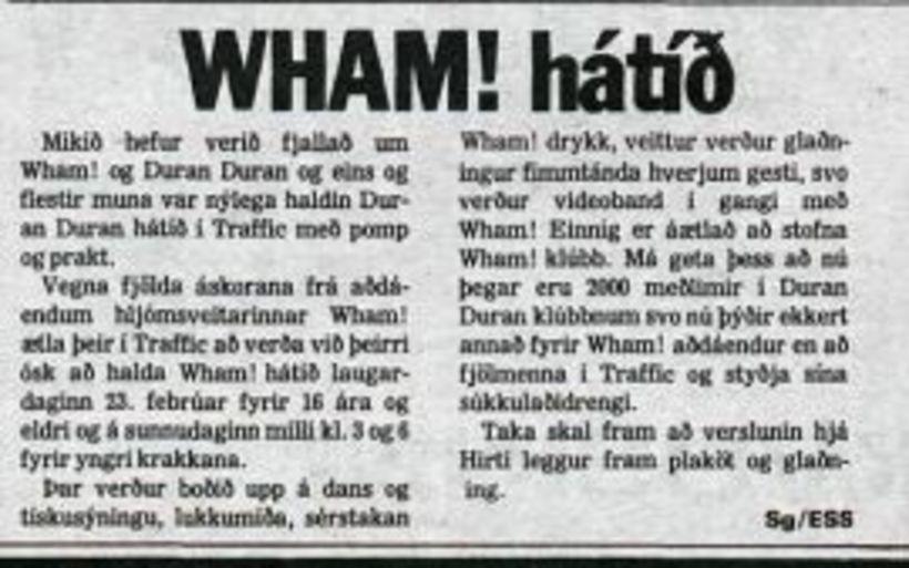 Aðdáendur Wham létu sitt ekki eftir liggja og boðuðu til …