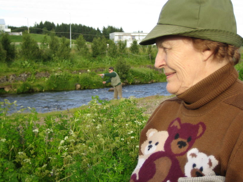 Guðrún E. Thorlacíus var í dag sæmd gullmerki Stangaveiðifélags Reykjavíkur. ...