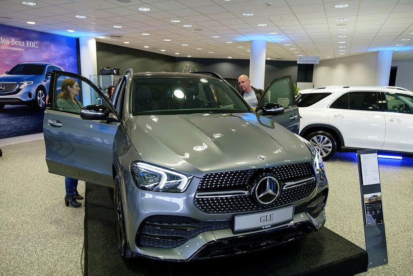 Hinn nýi Mercedes-Benz GLE í húsakynnum Öskju í dag.