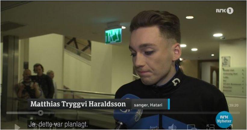 Matthías Tryggvi Haraldsson úr íslensku sveitinni Hatara segir íslenska ríkisútvarpinu ...