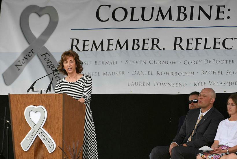 Dawn Anna, móðir Lauren Townsend sem var myrt í Columbine-skólanum, ...