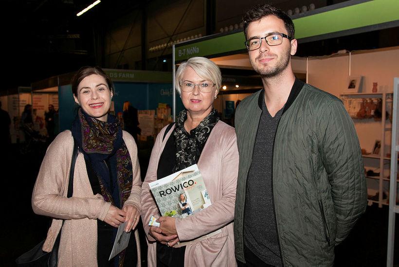 Lína Petra, Harpa Karlsdóttir og Sindri Steinn Marinósson.