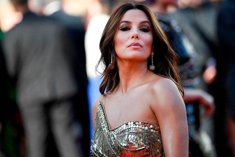 Eva Longoria leit vel út á rauða dreglinum í Cannes.