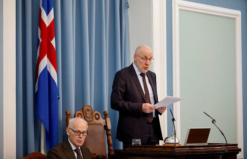Steingrímur J. Sigfússon, forseti Alþingis, hefur ekki hugsað sér að ...