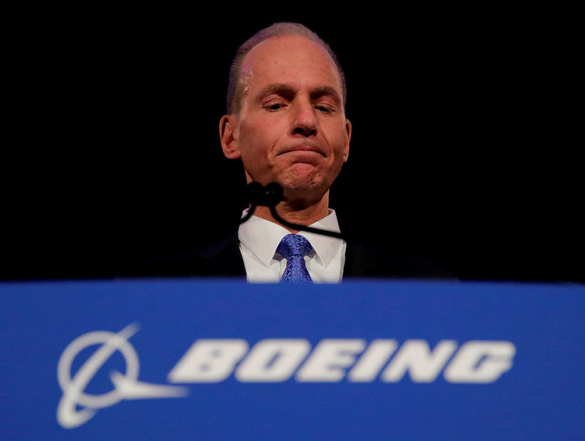 Forstjóri Boeing, Dennis Muilenburg.