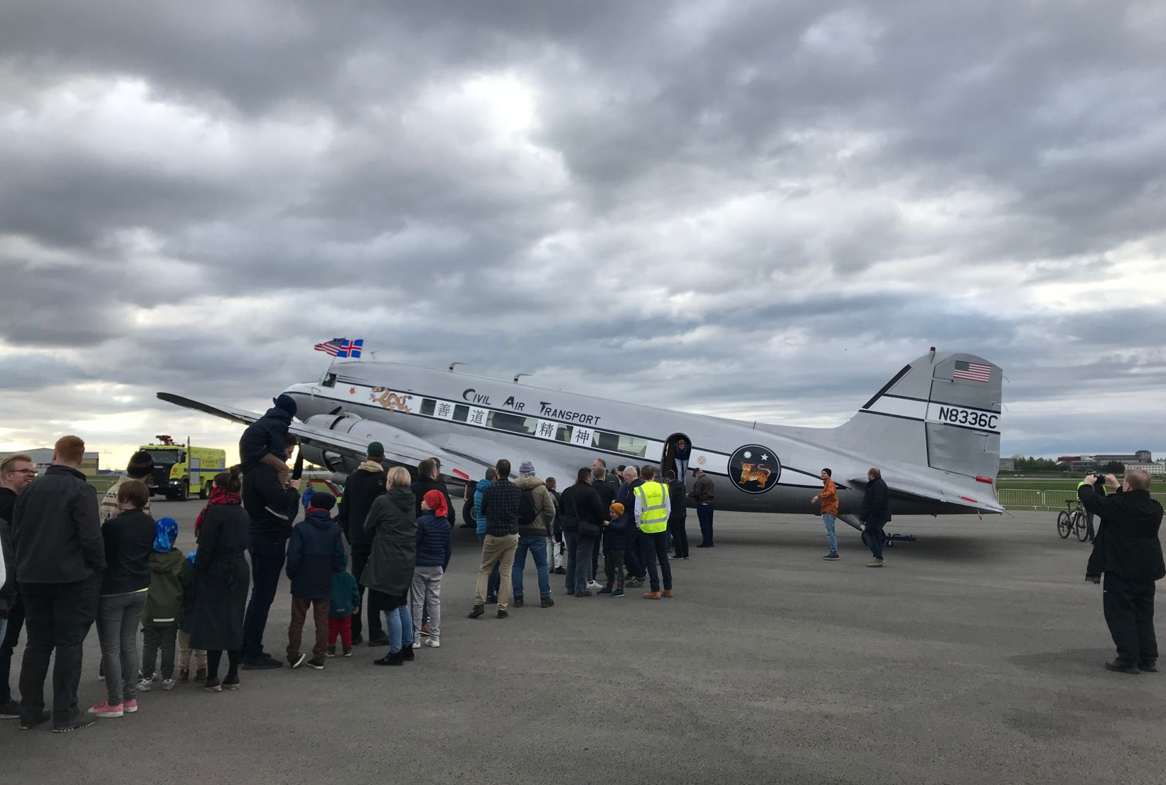 The Spirit of Benovia at Reykjavík Airport.