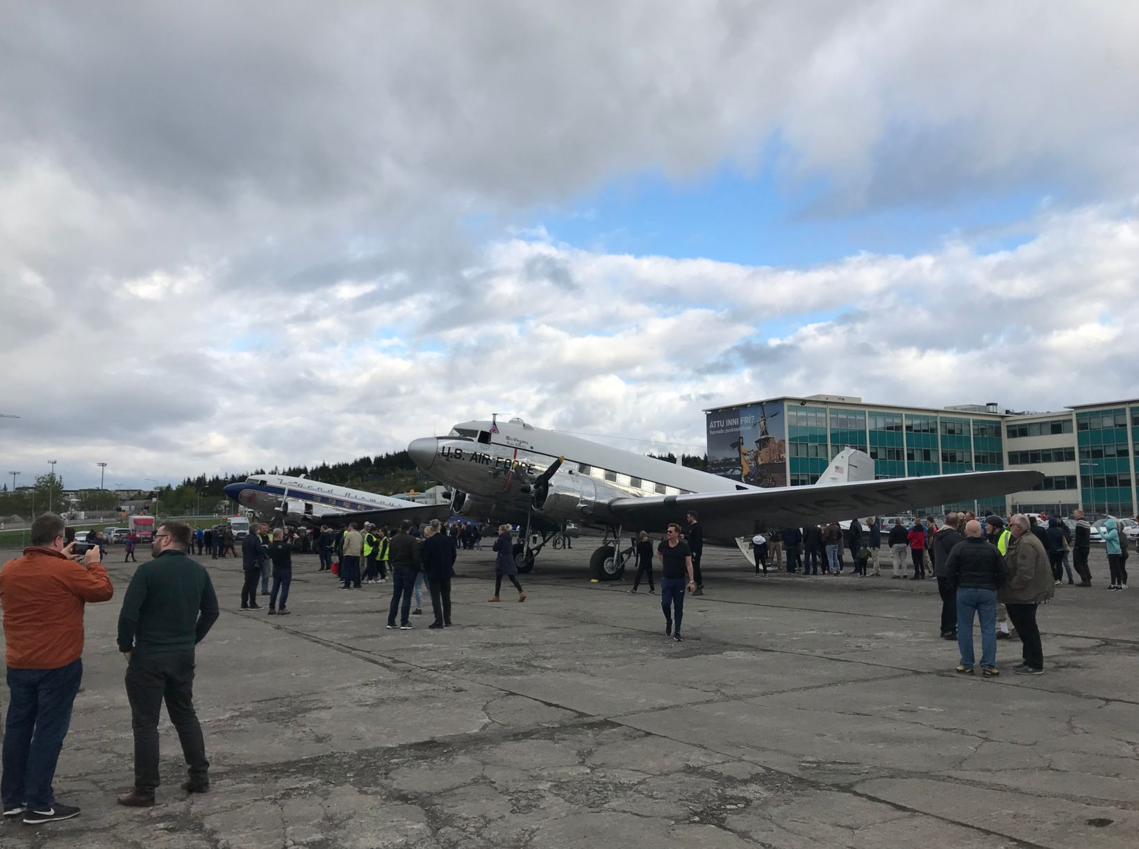 Two of the DC-3/C-47 aircraft at Reykjavík Airport.