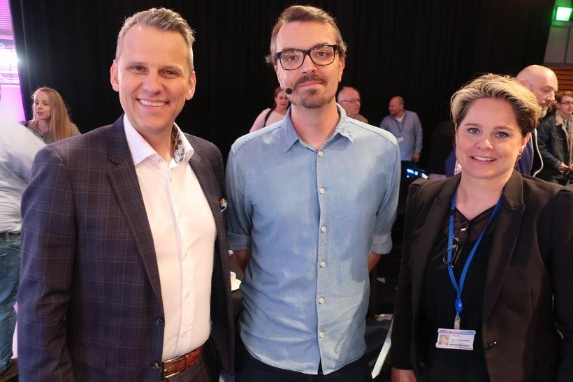Magnús Geir Þórðarson, Joel Westerholm frá SR og Rakel Þorbergsdóttir ...